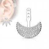 Jacket oreille 23 - Demi-lune multistrass