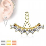 Jacket oreille 37 - Multiples cristaux ronds