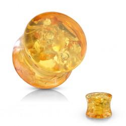 Plug acrylique courbe ambre (Artificielle)