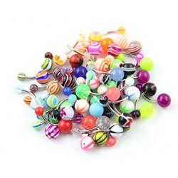 Lot de 50 piercings pour nombril acryliques