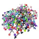 Lot de 50 piercings pour arcade acryliques