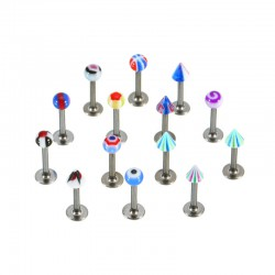 Lot de 50 piercings pour labret acryliques