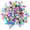 Lot de 100 piercings pour langue acryliques