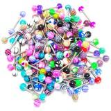 Lot de 25 piercings pour langue acryliques