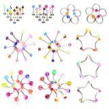 Lot de 200 piercings mélanges de styles