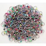 Lot de 25 piercings anneaux 1,2mm acryliques