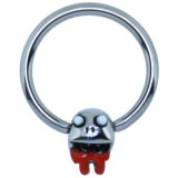 Piercing anneau 1,6mm 120 - Funny zombie A