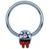 Piercing anneau 1,6mm 120 - Funny zombie A
