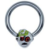 Piercing anneau 1,6mm 124 - Funny zombie E
