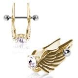 Piercing hélix 94 - Aile gold IP