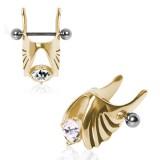 Piercing hélix 104 - Aile gold IP