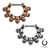 Piercing septum 11 - Crânes