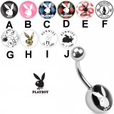 Piercing nombril logo Playboy B