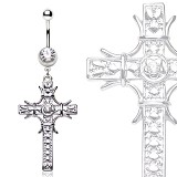 Piercing nombril croix 20 - Médiévale grise