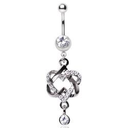 Piercing nombril coeur 82 - Vrillé