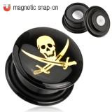 Plug acrylique magnétique pirate