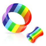Tunnel courbe acrylique rainbow