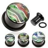 Plug acrylique o-ring coquillage iridescent