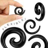 Spirale silicone flexible black