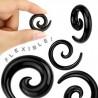 Spirale silicone flexible black