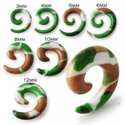 Spirale acrylique camouflage