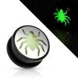 Plug acrylique fluorescent araignée