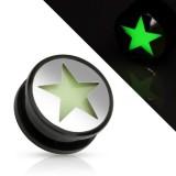 Plug acrylique fluorescent étoile