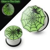 Plug fluorescent acrylique toile d'araignée