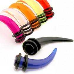 écarteur acrylique UV unicolore courbe