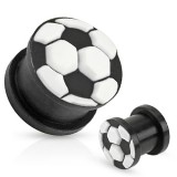 Plug silicone noir et blanc football