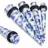 écarteur pointe acrylique camouflage bleu