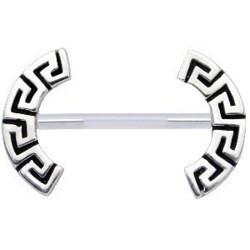 Piercing téton barbell 08 - Lignes grecques