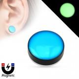 Faux-plug magnétique fluo bleu (1)