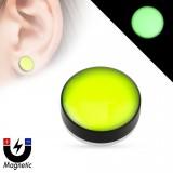 Faux-plug magnétique fluo vert (2)