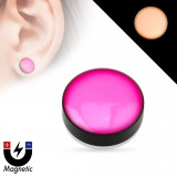 Faux-plug magnétique fluo rose (3)