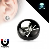 Faux-plug magnétique tête de mort (5)