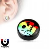 Faux-plug magnétique crâne multicolore (10)