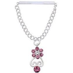 Piercing téton barbell 12 - Fleur pendante
