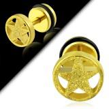Faux-écarteur acier 158 - Satin jaune étoile A