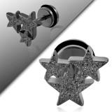 Faux-écarteur acier 175 - Satin noir triple étoiles A