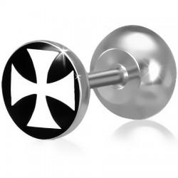 Faux-écarteur acier 90 - Logo croix