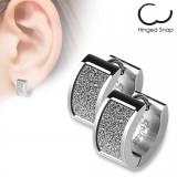 Anneaux oreilles acier 02 - Satin gris