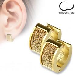 Anneaux oreilles acier 27 - Satin gold-ip