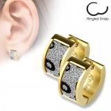 Anneaux oreilles acier 36 - Gold-ip satin ronds