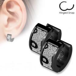 Anneaux oreilles acier 64 - PVD noir cercles