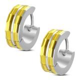 Anneaux oreilles acier 65 - Deux bandes gold-ip