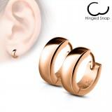 Anneaux oreilles acier 66 - Simple Gold-ip rose