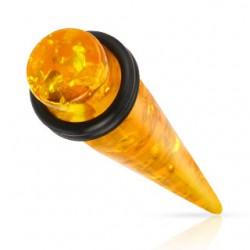 écarteur acrylique ambre (artificielle)
