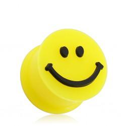 Plug en silicone jaune smiley