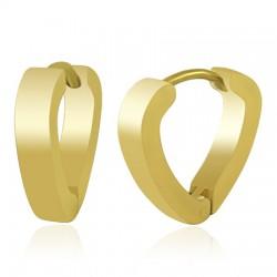 Anneaux oreilles acier 49 - Gold ip triangulaire
